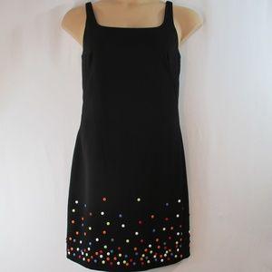 NWT Muse Dress size 8 button embellishment sheath